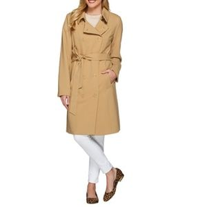 NEW Water Repellent Soft Trench Coat, Camel Color
